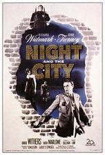 NIGHT AND THE CITY Movie POSTER 27x40 Richard Widmark Gene Tierney Googie