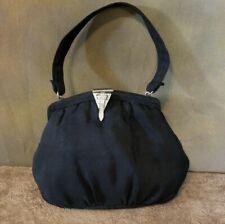 New listing Vintage 1920s Art Deco Black Handbag with Crystals