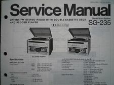PANASONIC SG-235 Stereo Music Centre unit Service manual wiring parts diagram