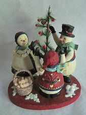 Demdaco Kathy Killip Snowmen Family Figurine 1999 Decorating Tree Hearts