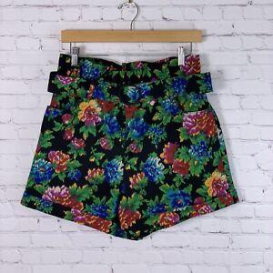 Zara Shorts NWT Black Floral Print Womens Size Medium
