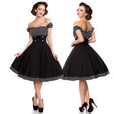 50er Swing Kleid Rockabilly Vintage Retro 1950s Schulterfrei 50s XS(34)-3XL(46)