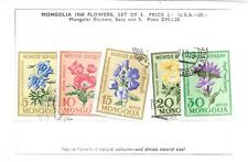 MONGOLIA 1960 FLOWERS SET OF FIVE USED  MY REF 887