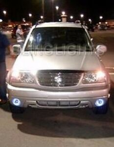 Halo Angel Eye Fog Lights Driving Lamps Kit for 2002-2004 Suzuki Grand Vitara