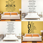 Large Size Bible Verse Wall Decals Christian Quote Vinyl Sticker Home Art Decor