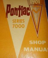 1961 GM Pontiac Series 7000 Service Repair Shop Workshop Manual OEM CDN