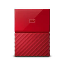 WD My Passport 3TB Red Portable Hard Drive by Western Digital 3 year limited ...