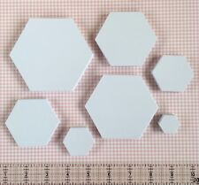 English Paper Piecing Hexagon Templates | Various Sizes & Quantities Available
