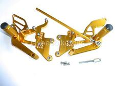 YAMAHA YZF R6 2003-2005  FULLY ADJUSTABLE CNC REAR SETS NEW GOLD COLOUR   S11Q