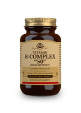 "Solgar Formula Vitamin B Complex ""50"" 100 Capsules - High Strength"