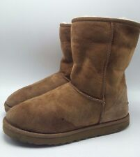 1E5 Ugg Australia Classic Short Slip on Cozy Chestnut Boots Women Shoes Size 8