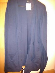 2 x H&M  NEW Long sleeve Mens 100% cotton cardigans size xL 1 x BNWT blue black