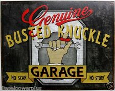 Genuine Busted knuckle garage tin metal sign truck Hot Rod chop shop poster 2070