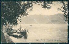 Como Tremezzo Lago di Barche PIEGHINA cartolina VK0247