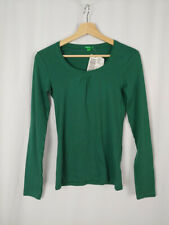 United Colors of Benetton New Medium Green Long Sleeve Cotton Top