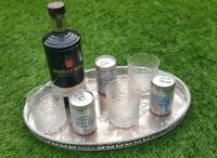 """15"""" antique vintage silver plate oval serving drinks chased tray Viners"""