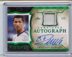 2020 Leaf In The Game Used Sports Emerald GU Autograph 1/1 Cristiano Ronaldo