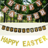 Happy Easter Banner 2020 New Year Party Decoration Bunting Garland Hanging Flag.