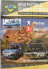 Revue technique automobile RTA Peugeot Partner / Citroën Berlingo