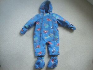 Joules baby boy's snowsuit age 6-9 months - waterproof