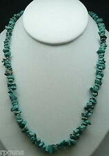 "NATURAL Stabilized TURQUOISE CHIP NECKLACE BEAD 18"" Fashion Healing Reiki NEW"