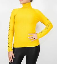 Versace Collection Yellow Sweater Turtleneck size 42