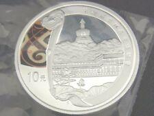 10.- Yuan, 2008, Silbermünze  Ag., PP China Peking Olympia