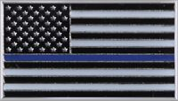 """Thin Blue Line US Flag Lapel Pin Law Enforcement Support the Police 3/4"""" x 7/16"""""""