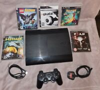 Sony Playstation 3 Super Slim Console 500 GB + 1 Controller & 5 Games Bundle