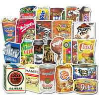 Mix 37pc Funny Food Packaging Stickers Skateboard Graffiti Laptop Luggage Decal