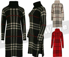 Acrylic Check Polo Neck Jumpers & Cardigans for Women