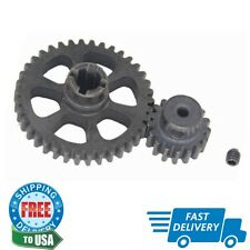 1 Set Metal Diff Main Gear 38T & Motor Gear 17T For Rc 1/18 Wltoys A949 A959 A94