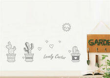 Drawing cactus Home Decor Removable Wall Sticker Decal Decoration Vinyl Mural