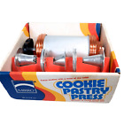 Vintage Complete Mirro Aluminum Cookie Press With Box 3 Tips & 12 Disks 0358-22