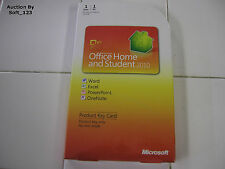 MS Microsoft Office 2010 Home and Student Product Key Card (PKC) = NEW SEALED BOX =