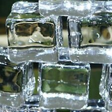 """12 fake faux acrylic ice cubes crystal clear 3/4"""" square FREE SHIPPING"""