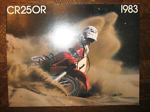 1983 HONDA CR250R NOS OEM DEALER'S SALES LITERATURE BROCHURE CR 250 R 83