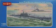 Sowjetisches U-Boot Prawda Klasse  , Mikro-Mir, 1:350, Plastik, Ätzteile, NEU !