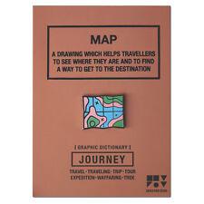 Journey Map Pin Badge Brooch Pins Jewelery Enamel Black Nickel