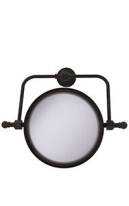 Allied Brass Retro Wave Collection Wall Mounted Swivel 8in Makeup Mirror RWM-4/5