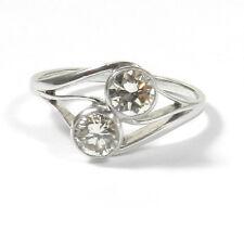 Diamant Ring mit 1 ct Brillanten in 585 Weißgold Toi & Moi Verlobungsring