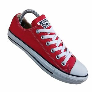 Converse All Star Mens 6 Womens 8 Red Low Top Sneakers  Tennis Shoes Lace Ups