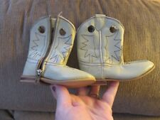 unisex cowboy  boots  faux leather childs girls boys size 2 western made mexico
