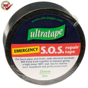 Repair Tape Black Cloth PVC Burst Pipe Hose Fix Emergency SOS Bonding Tape 80989
