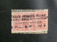 FRANCE COLIS POSTAUX : YVERT TELLIER N° 30 - 15 CENTIMES X 4 Oblitéré PARIS ROME