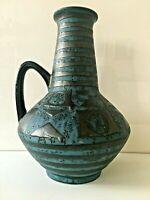 CARSTENS Boden Vase 27 cm Model 1507 ANKARA 60er 70er  WGP petrol FAT LAVA