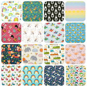 KIDS POLYCOTTON FABRIC Childrens Boy Girl Nursery Craft Material PER 1/2 METRE