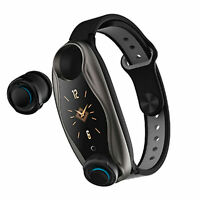 Lemfo LT04 Fitness Braccialetto Wireless Bluetooth Auricolare Bluetooth 2 in 1