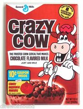 Crazy Cow Chocolate FRIDGE MAGNET (2.5 x 3.5 inches) cereal box breakfast
