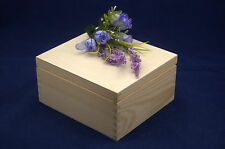 Plain Wooden Jewellery Gift Box perfect for Decoupage and Crafts